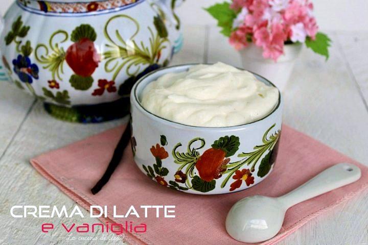 Crema di latte e vaniglia senza cottura