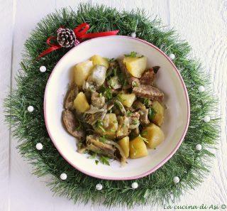 Padellata di cotechino carciofi e patate
