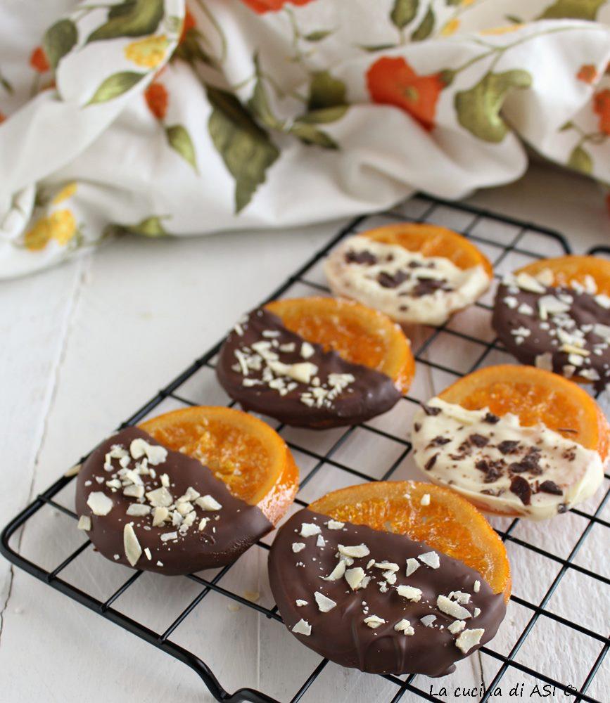 Arance candite al cioccolato