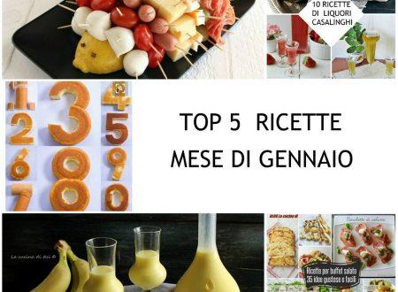 TOP 5 RICETTE MESE DI GENNAIO