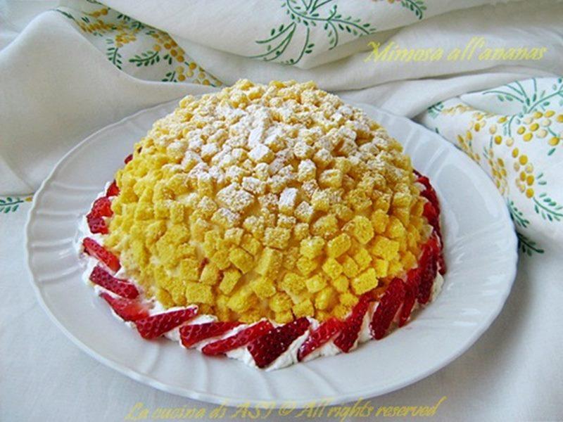 Torta-mimosa-all-ananas-