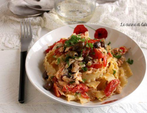Reginette con orata e olive taggiasche