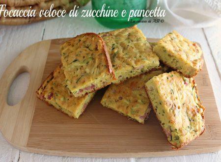 Focaccia veloce di zucchine e pancetta
