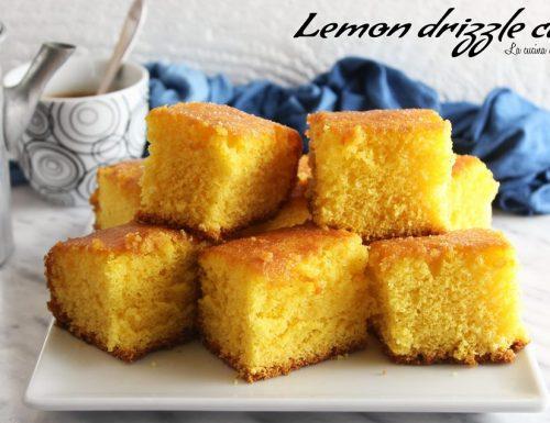 Torta al limone-Lemon drizzle cake