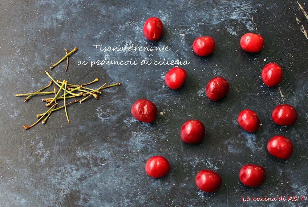 Tisana drenante ai peduncoli di ciliegia