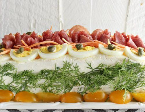 Torta tramezzino-sandwich cake