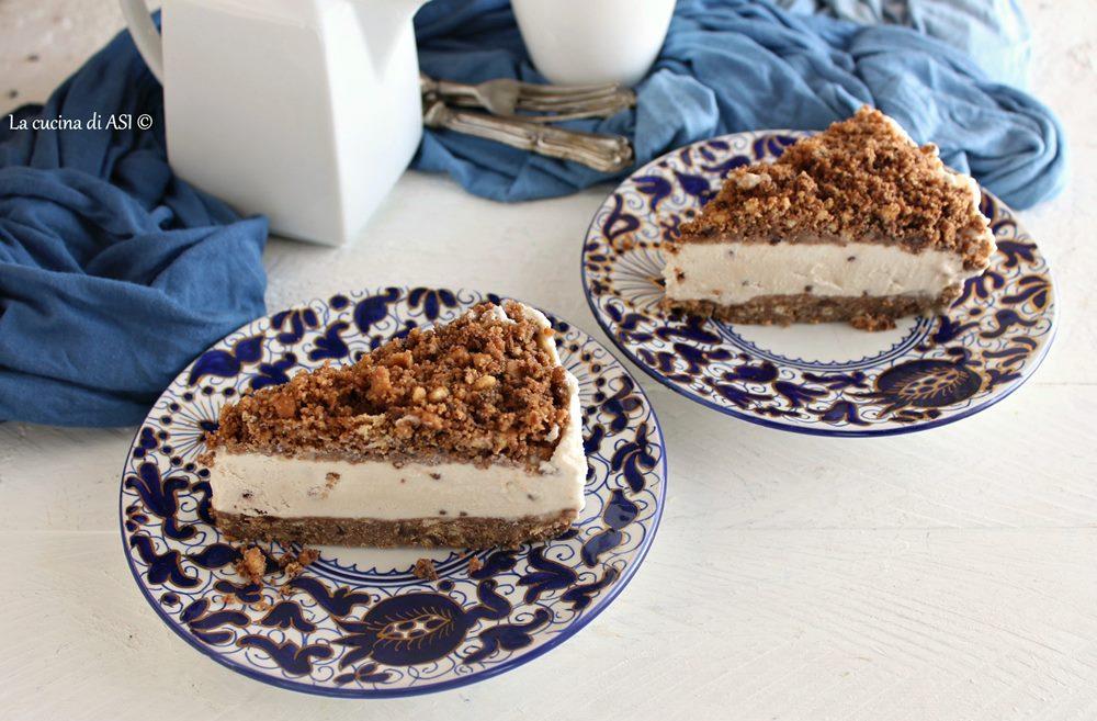 Torta sbriciolata caffè e cioccolato