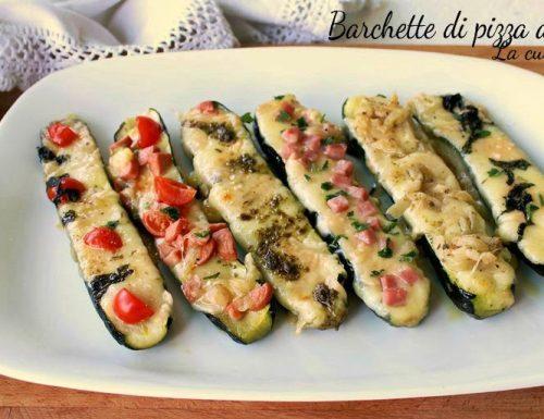 Barchette di pizza alle zucchine