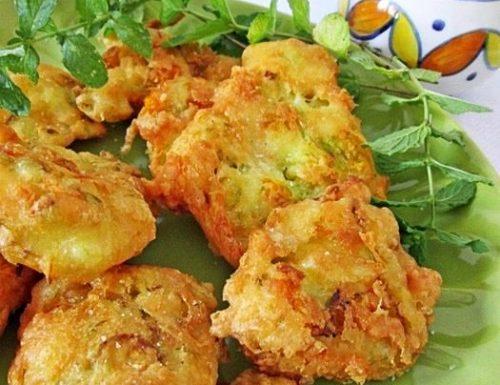 Frittelle di fiori di zucca e menta-Ricetta antipasto