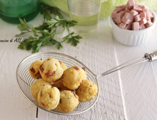 Palline di patate al prosciutto