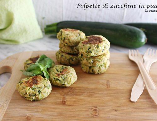 Polpette di zucchine in padella