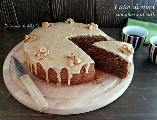 CAKE di noci con  glassa al caffè