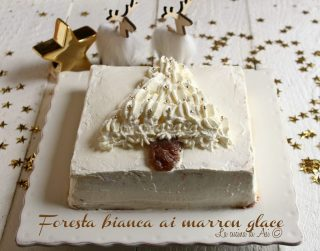 Foresta bianca ai marron glace