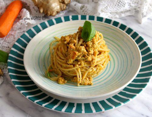 Spaghetti al pesto di carote e noci