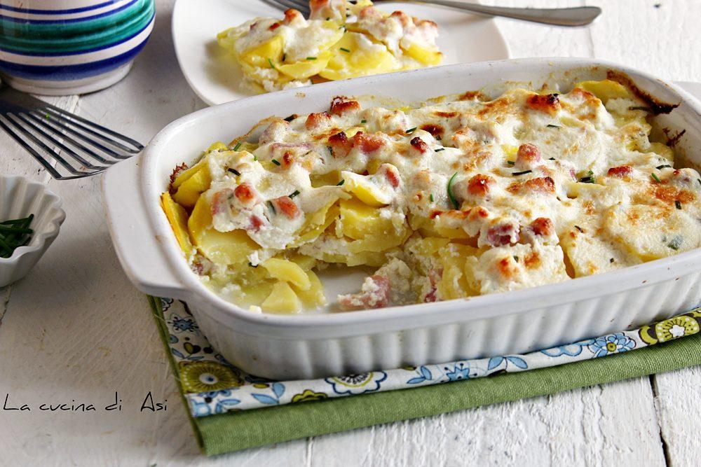 Terrina di patate pancetta e ricotta