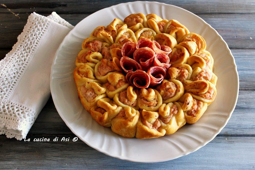 Torta fiore salata con mousse
