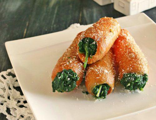 Carote farcite di spinaci