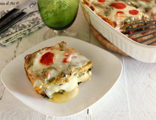 Lasagne vegetariane agli spinaci