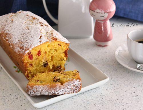 Plum-cake con canditi e uvetta