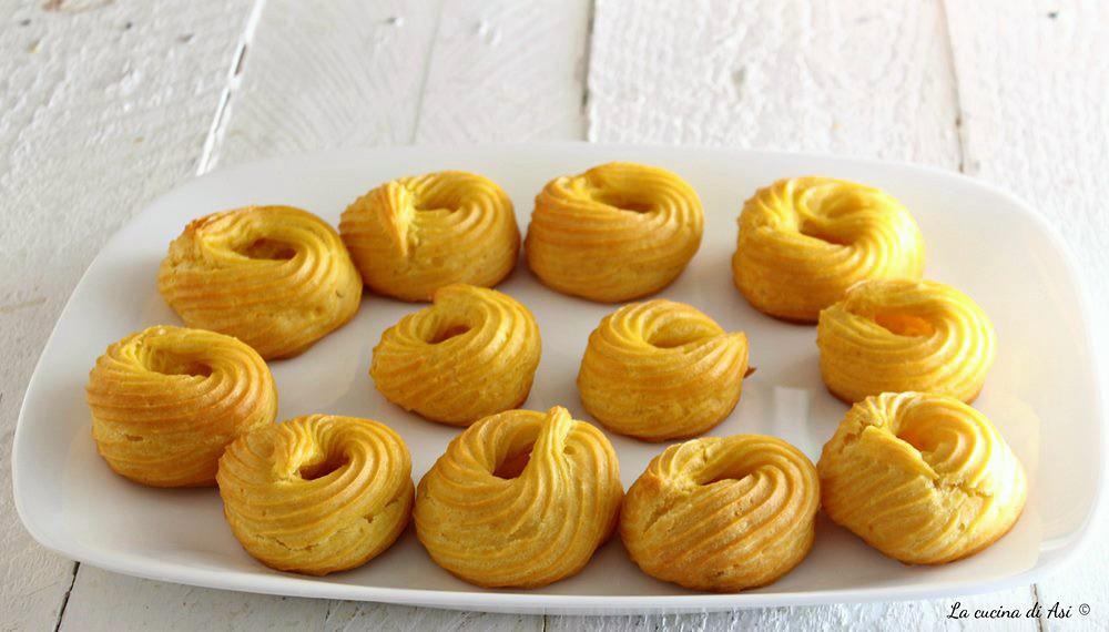 Zeppole  al forno ricetta dolce pasta choux
