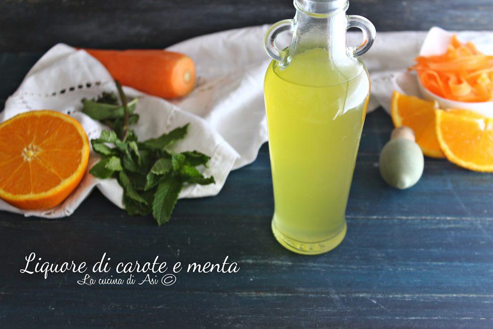 Liquore di carote e menta