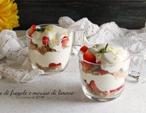Coppe di fragole con  mousse di limone