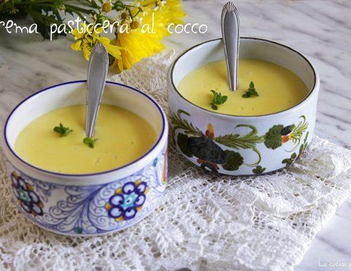 Crema pasticcera al cocco senza farina