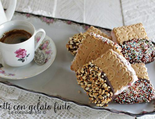 Biscotti con gelato finto