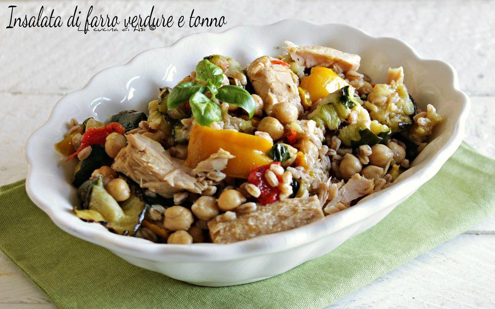 Insalata di farro verdure tonno
