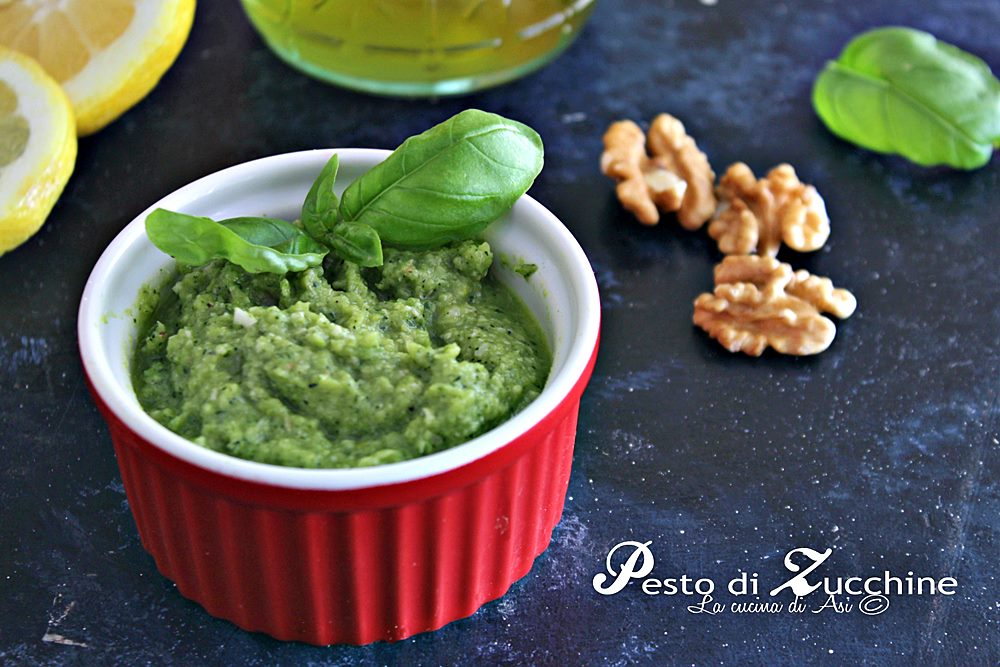 Pesto di zucchine facile e veloce