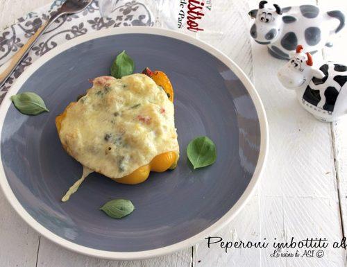 Peperoni imbottiti di pasta al forno