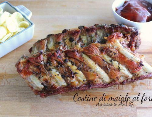 Costine di maiale al forno succulente croccanti