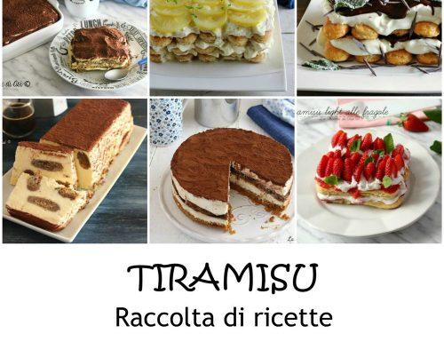 Tiramisu raccolta di ricette
