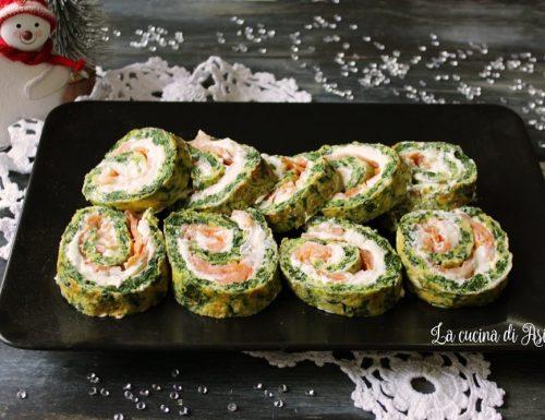 Rotolo salato di salmone e spinaci