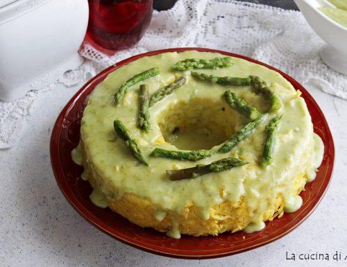 Savarin di taglierini con crema di asparagi
