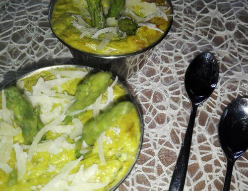 Flan di asparagi con parmigiano