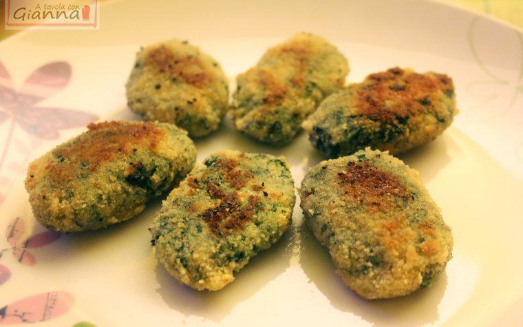 Crocchette ricotta e spinaci