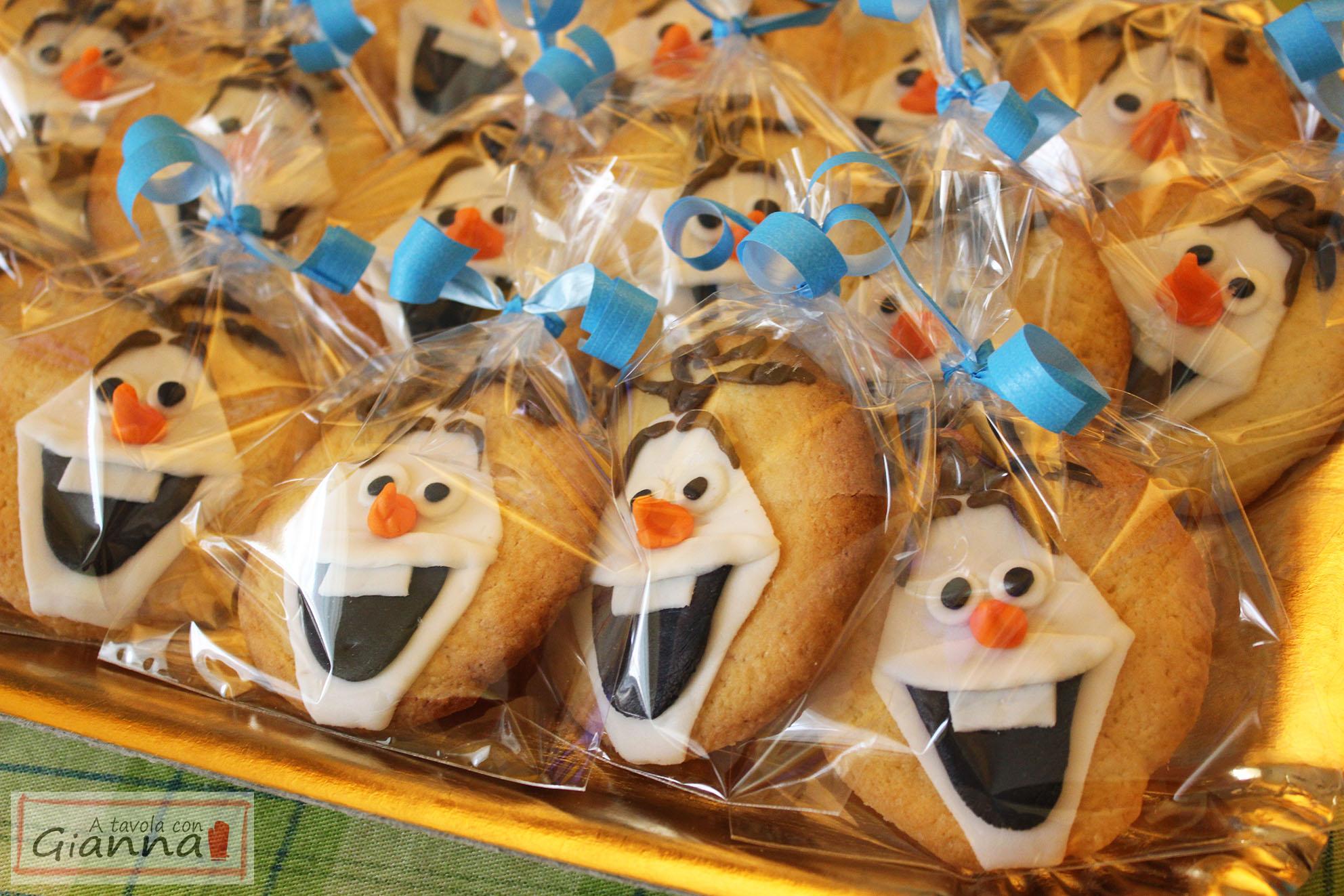 Festa Frozen: i biscotti di Olaf