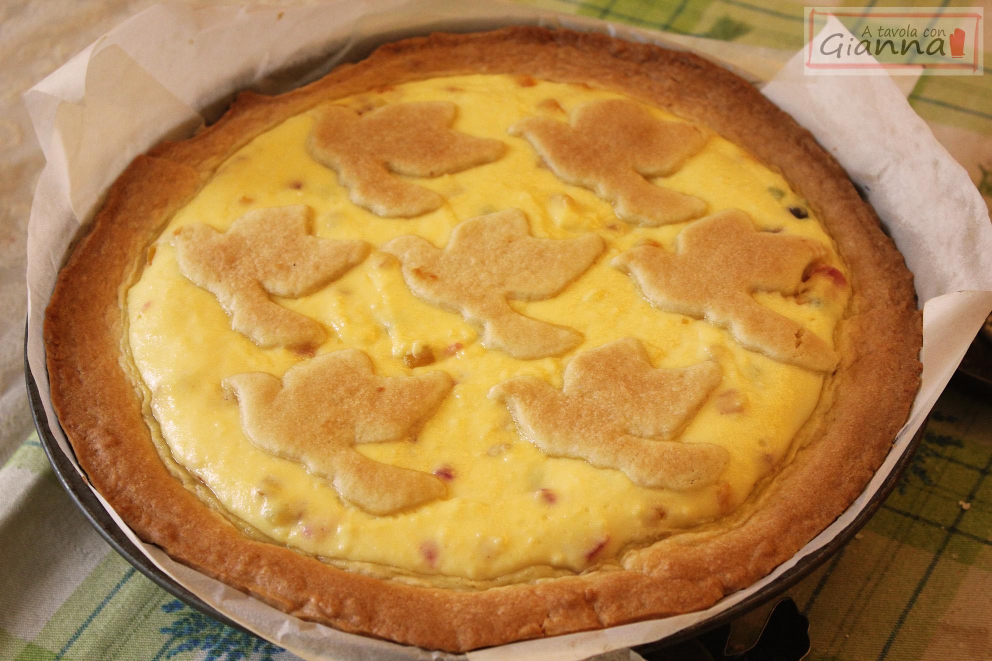 Torta Pasqualina, con pasta frolla lievitata e ricotta