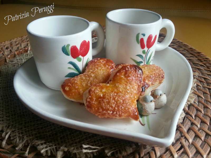 cuoricini di sfoglia dolci