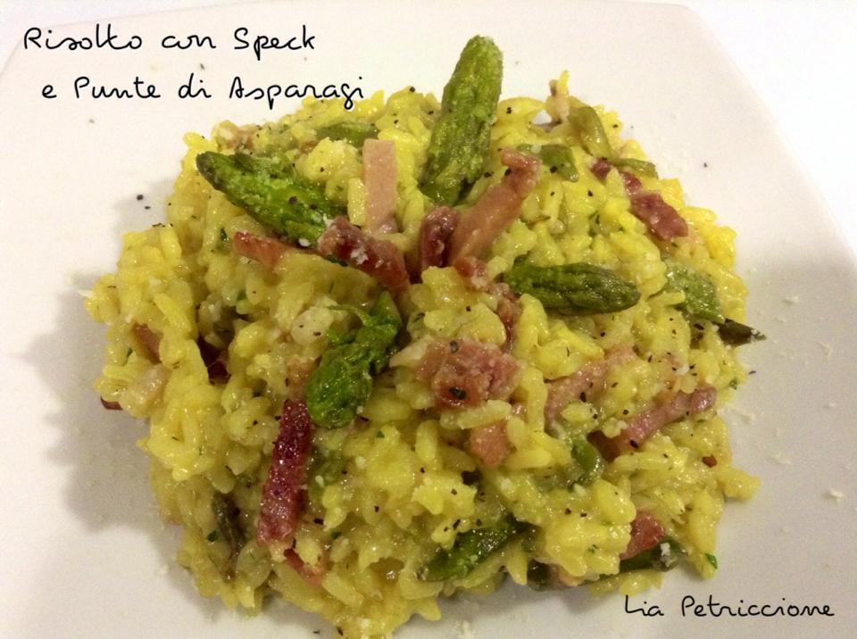 risotto speck asparagi3 Lia