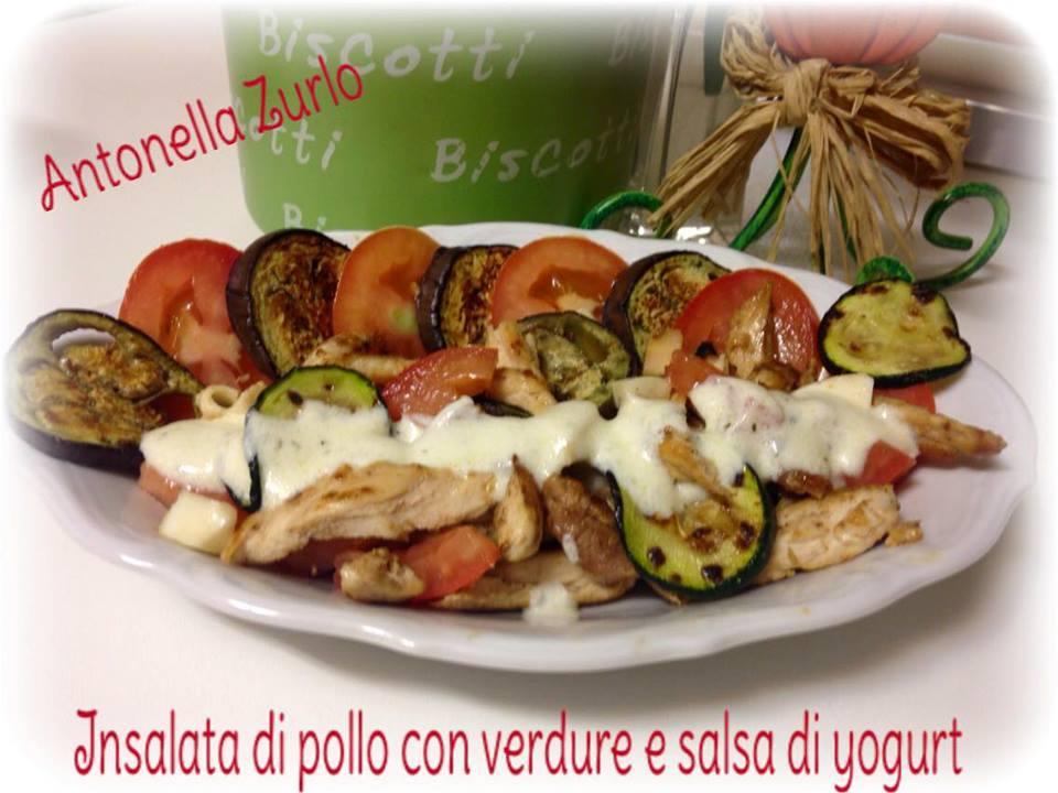 insalata di pollo verdure salsa yogurt antonella zurlo