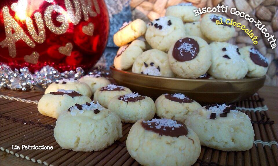 Biscotti Cocco e Ricotta al Cioccolato
