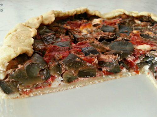 TORTA SALATA MELANZANE E RICOTTA