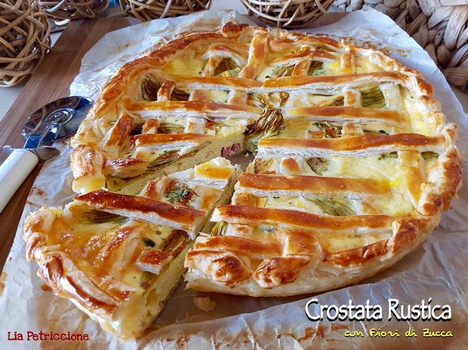 crostata rustica fiori zucca4 Lia