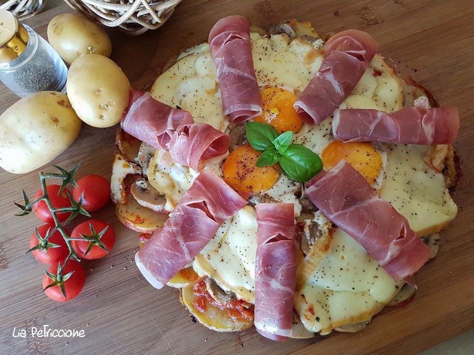 Pizza di patate in padella a tavola con liaa tavola con lia for A tavola con guy
