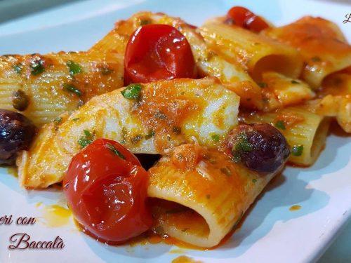 PACCHERI CON BACCALA' (ricetta gustosa!)