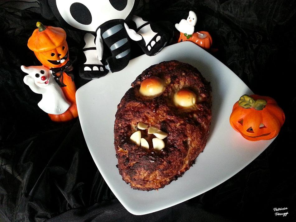 Secondi Piatti Di Carne Per Halloween.Polpettone Zombie Secondo Mostruoso Per Halloween