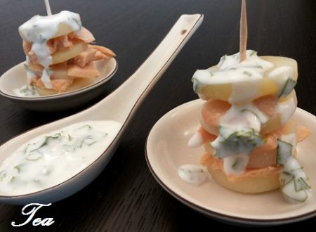 Finger Food di Salmone con Panna Acida