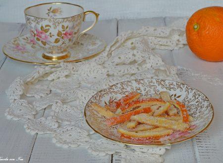 Scorzette di arancia candite ricetta facile